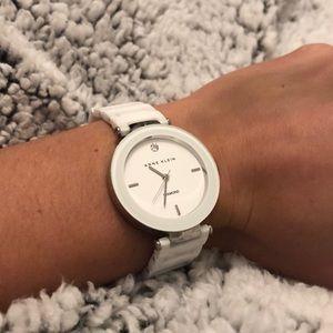 Anne Klein White Diamond Watch